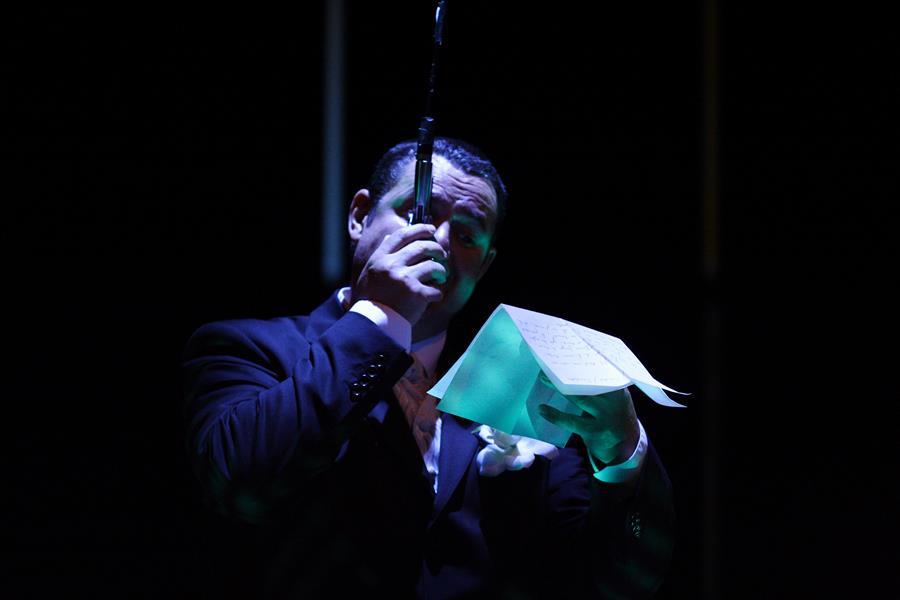 Eric Forterre – Le président La Tour - Théâtre de Gennevilliers – Salle Maria Casares – 1997 ©Philippe ABRIEUX