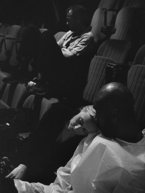 Gerard Watkins Hélène Alexandridis Gael Baron En répétition  Suivez- Moi - Théâtre Gérard Philipe de St-Denis     © Pedro Lombardi